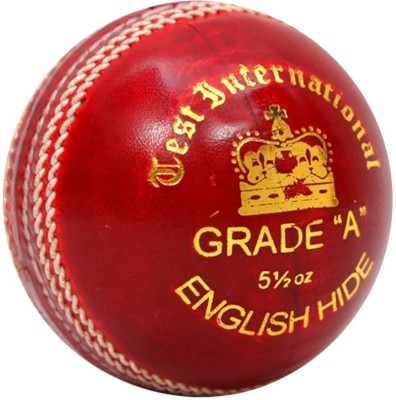 SF Test International Cricket Ball - Size: 5, Diameter: 3.5 cm(Pack of 1, Red)
