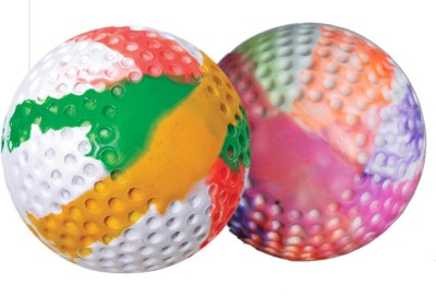 HRS Turf Ball Dimple Multicolor Hockey Ball -   Size: Full,  Diameter: 7 cm