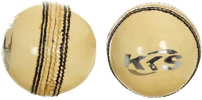 KKS Crown - White Cricket Ball - Size- 3, Diameter- 7 cm