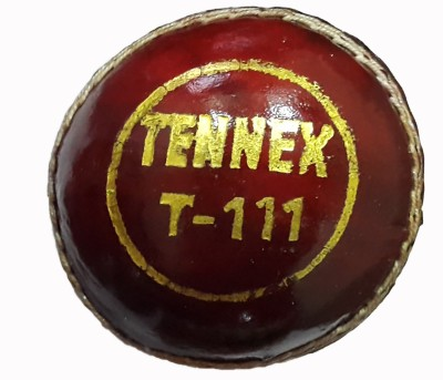 Tennex Leather T-111 Red Cricket Ball -   Size: Standard,  Diameter: 7 cm