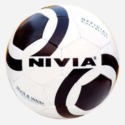 Nivia black & white (size - 5) Football -   Size: 5,  Diameter: 22 cm