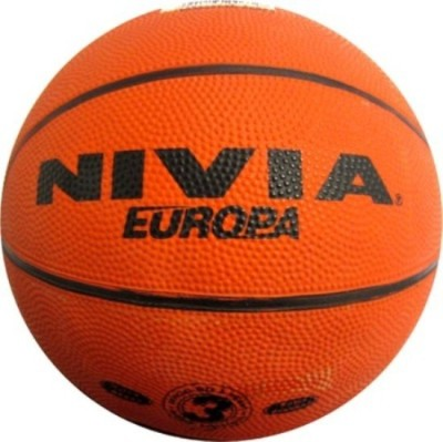 Nivia Europa Basketball - Size: 3, Diameter: 15 cm(Pack of 1, Multicolor)