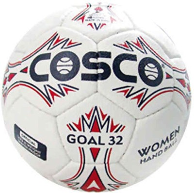 Cosco Goal 32 Handball -   Size: 2,  Diameter: 2.5 cm(Pack of 1, White, Red)