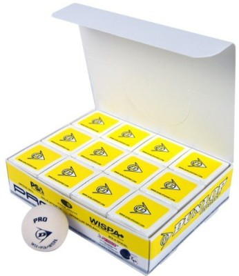 Dunlop Sports Pro Glass Court Squash Ball Squash Ball - Size: 5, Diameter: 6.86 cm(Pack of 12, White)