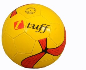 Tuff Club Football - Size: 5, Diameter: 25 cm(Pack of 1, Yellow)