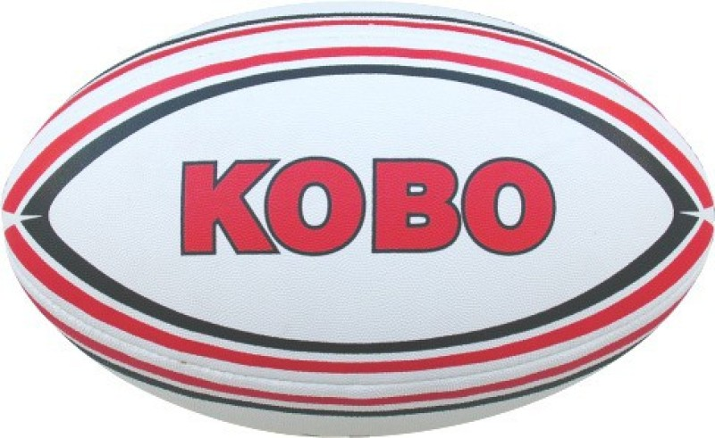 Kobo Gladiator Rugby Ball -   Size: 5,  Diameter: 16 cm(Pack of 1, White)