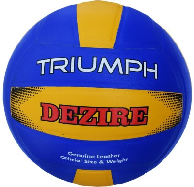 Triumph Dezire Leather Pasted Moulded Volleyball -   Size: 4,  Diameter: 21 cm