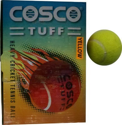 Cosco Cosco Tuff Cricket Tennis Ball - Size- 5, Diameter- 2.5 cm