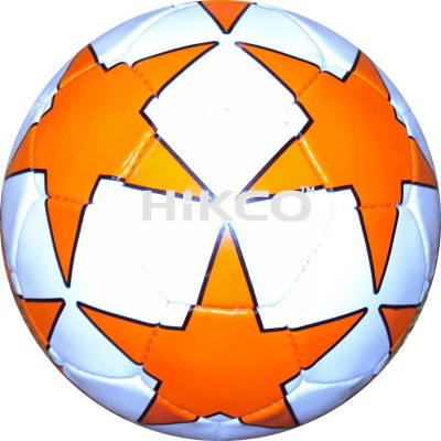 Hikco Star Orange Football - Size: 5, Diameter: 22 cm(Pack of 1, White, Orange, Black)