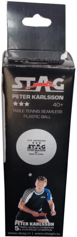 Stag Three Star Plastic Tennis Ball Pack of 3 Tennis...