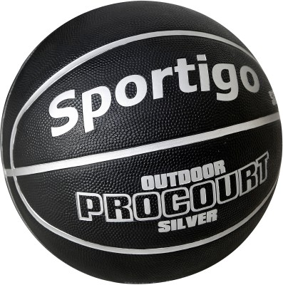 Sportigo Procourt Silver Basketball -   Size: 7,  Diameter: 75.5 cm