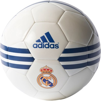 Adidas REAL MADRID Football - Size- 5, Diameter- 5 cm(Pack of 1, White, Purple)