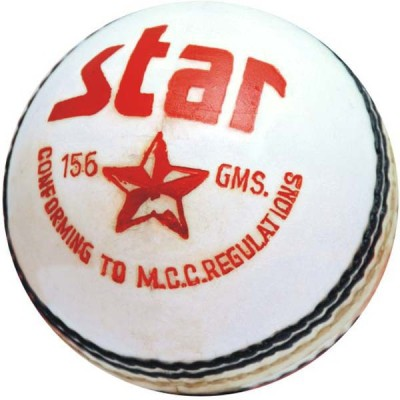 CW Star White Cricket Ball -   Size: Full Size,  Diameter: 22 cm