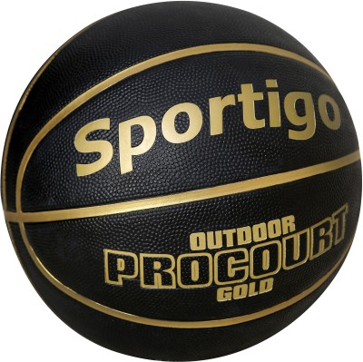 Sportigo Procourt Gold Basketball -   Size: 7,  Diameter: 75.5 cm