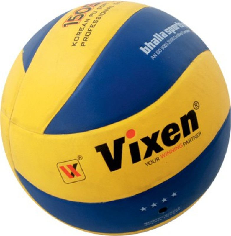Vixen SS 150 Volleyball -   Size: 5,  Diameter: 63 cm(Pack of 1, Yellow, Blue)