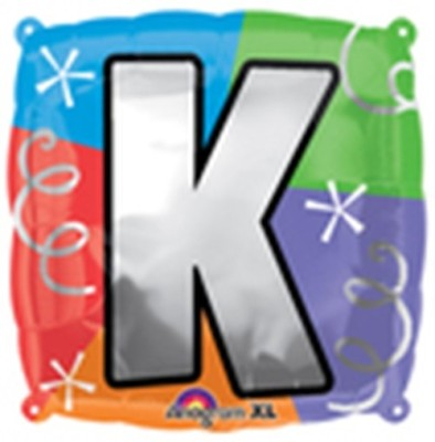 Party Fabs Printed quad letter K Balloon