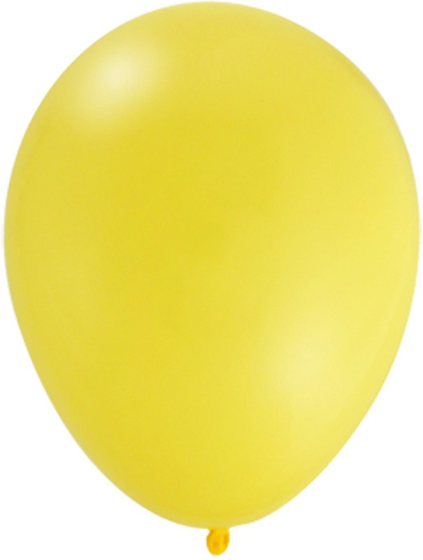 The Party House Solid BPY100 Balloon(Yellow, Pack of 100)