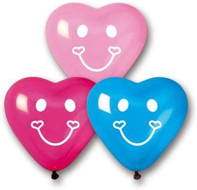 Bubbly Printed Smiley Hearts Balloon