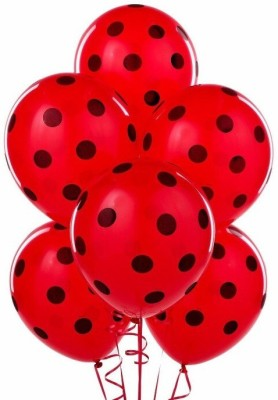 PartyballoonsHK Printed Polka Dot Red Balloon
