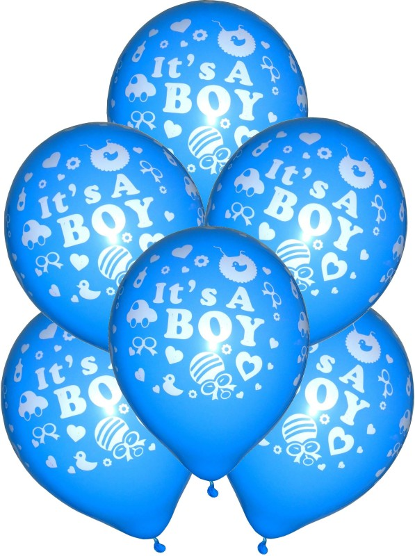 GrandShop Printed GS50327 Balloon(Blue, Pack of 30)
