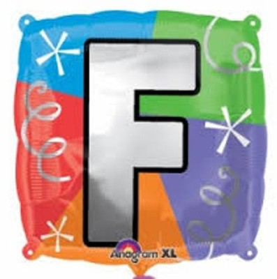 Party Fabs Printed Letter F Balloon