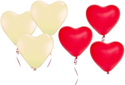 Ziggle Solid Balloon Heart Balloon