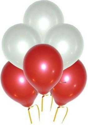 PartyballoonsHK Solid HK0203 Metallic Red White Balloon