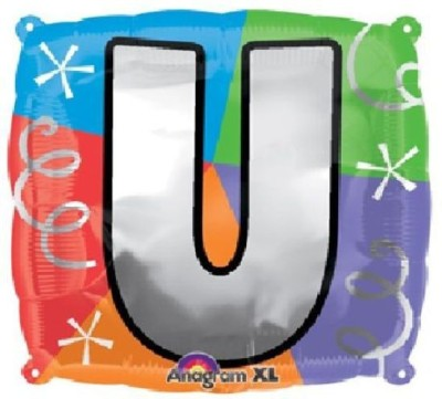 Party Fabs Printed Quad letter U Balloon