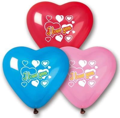 Bubbly Printed Heart Printed Balloon