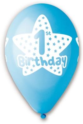 Bubbly Printed First Birthday Boy Balloon