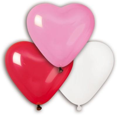 Bubbly Solid Heart Shaped Assortment Balloon