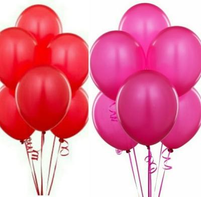 PartyballoonsHK Solid HK0205 Metallic Red , Pink Balloon