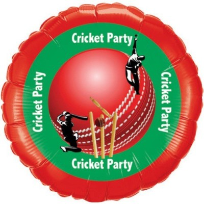 Party Fabs Printed Cricket Party Balloon