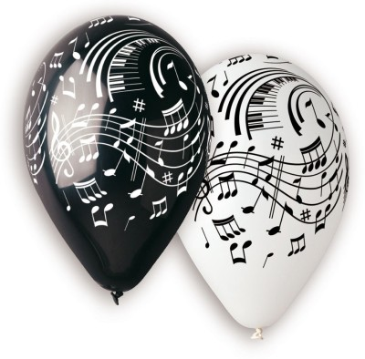Bubbly Printed Musical Notes Balloon