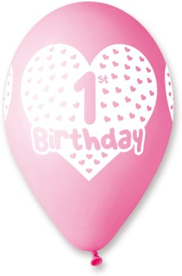 Bubbly Printed First Birthday Girl Balloon