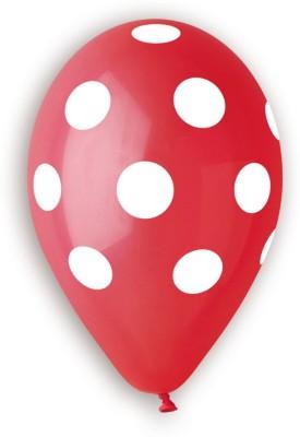 Bubbly Printed Polka Dot Red Balloon