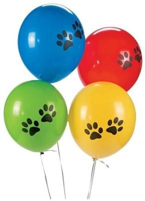 PartyballoonsHK Printed Black Paw (Pack of 50) Balloon
