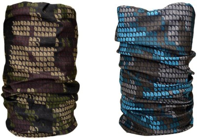 Noise Combo Of Noise 13 in 1 Blue Brown Pixels And Military Pixels Headwrap Men's Printed Bandana