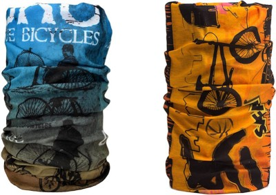 Noise Combo Of Noise 13 in 1 Antique Bicycles And Safari Headwrap Men's Printed Bandana
