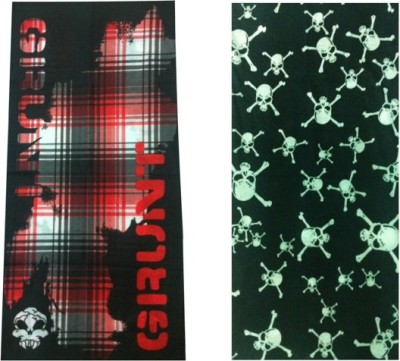 At Ur Door Men's Printed Bandana(Pack of 2)