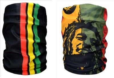 Noise Combo Of Noise 13 in 1 Bob Marley And Bolivian Print Headwrap Mens Printed Bandana