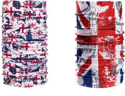 Noise Combo Of Noise 13 in 1 British Flag And London 1960 Headwrap Men's Printed Bandana