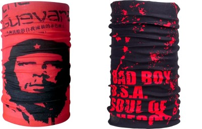 Noise Combo Of Noise 13 in 1 Che Guevara And Red Soul of Hero Headwrap Men's Printed Bandana