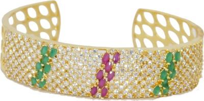 Belleza Jewelry Alloy Cubic Zirconia 24K Yellow Gold Bracelet