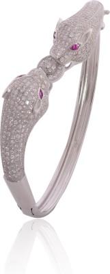 Divine Jewels Silver Cubic Zirconia Rhodium Kada