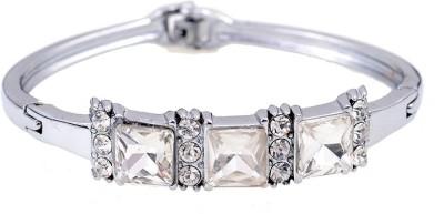 Amour Alloy Cubic Zirconia Silver Bracelet