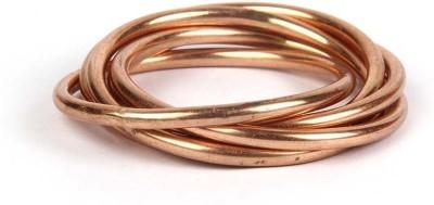 Kalpaveda Copper Copper Bangle(Pack of 7)