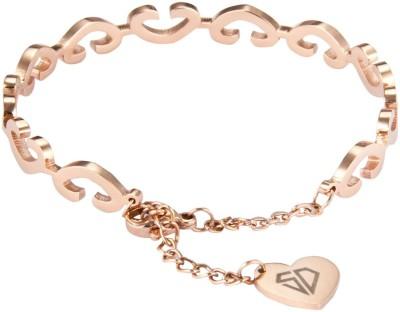 Swiss Design Brass Platinum Bracelet