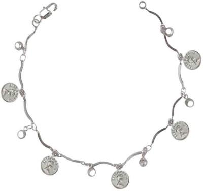 Rejewel Alloy Rhodium Charm Bracelet