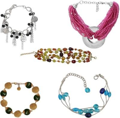 Kenway Retail Glass, Metal Silver Bracelet Set
